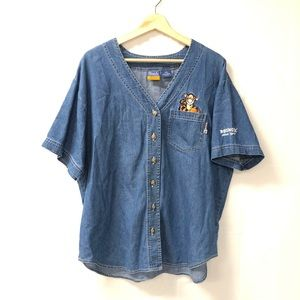 Disney Pooh vintage denim plus Sz 18W blouse